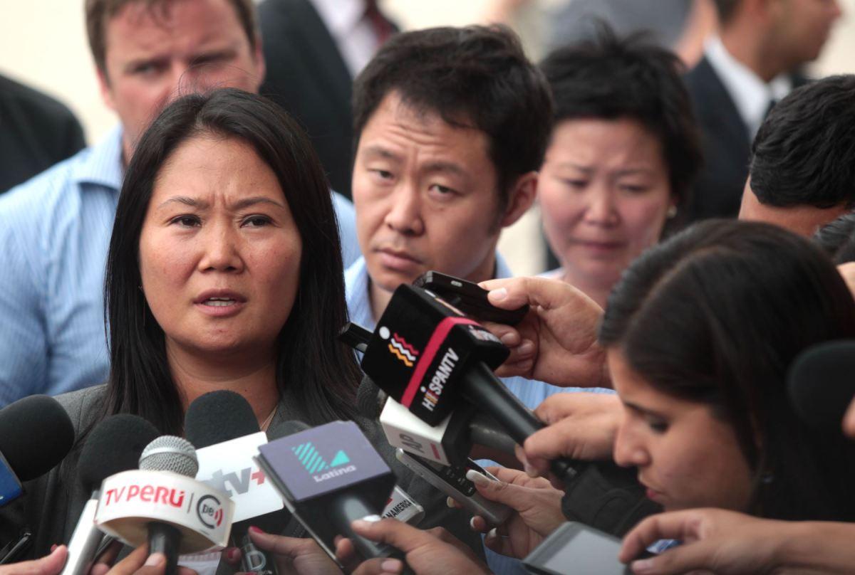 """Keiko Fujimori en la Universidad de Harvard, EEUU """"justificó"""" acciones en contra de los Derechos Humanos cometidas por su padre, el ex presidente Alberto Fujimori."""