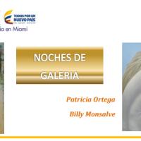 El Consulado de Colombia en Miami invita a la Inauguración de la exposición de los artistas Patricia Ortega y Billy Monsalve